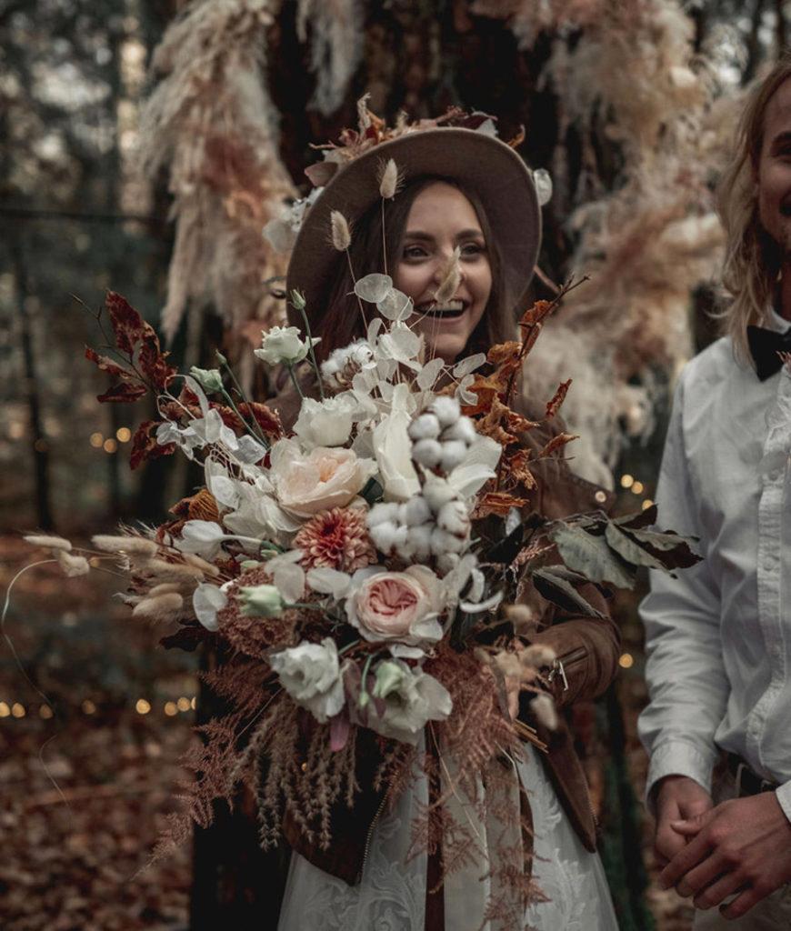 Bouquet mariage - Fleurs séchées - Atelier Graine de Prairie