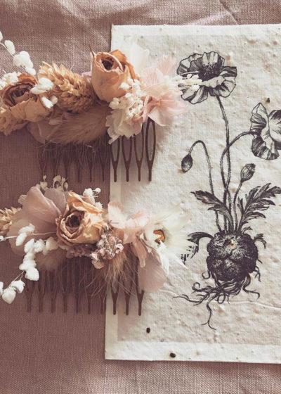 Peigne en laiton fleuri - Atelier Graine de Prairie